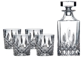 Royal Doulton Square Decanter and Double Old Fashioned Glass Set (5 PC)