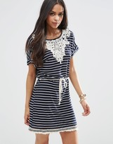 Brave Soul Stripe Crochet Dress