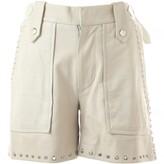 Isabel Marant White Leather Shorts