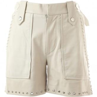 Isabel Marant White Leather Shorts for Women