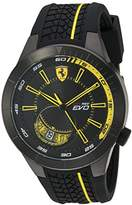 Ferrari Scuderia Men's Quartz Stainless Steel and Silicone Casual Watch