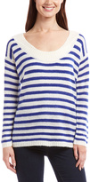 Blue & White Stripe Scoop Neck Sweater