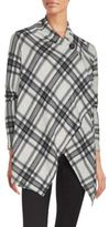 Bobeau Long Sleeve Plaid Sweater