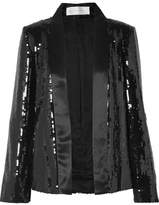 Victoria, Victoria Beckham - Sequined Satin Jacket - Black