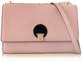 Vivienne Westwood Opio Pink Saffiano Large Shoulder Bag w/Flap Top