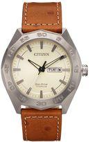Citizen Eco-Drive Men's Super Titanium Leather Watch