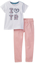 True Religion I Heart TR Tee & Legging Set (Toddler Girls)