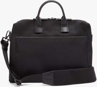 Troubadour Adventure Pathfinder Slim Leather-trim Briefcase - Black