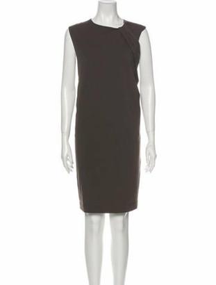 Brunello Cucinelli Crew Neck Knee-Length Dress Brown
