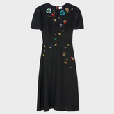 Paul Smith Women's Black Silk Dress With Jewel Embellishments