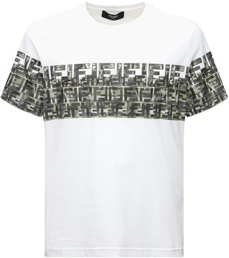 Fendi Camo Logo Cotton T-shirt