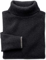 Charcoal Merino Cotton Roll Neck Wool Jumper Size Xs
