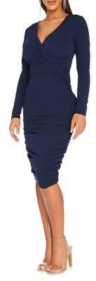 Quiz V-Neck Bodycon Dress