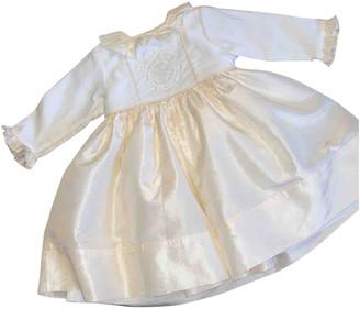 Christian Dior Ecru Silk Dresses