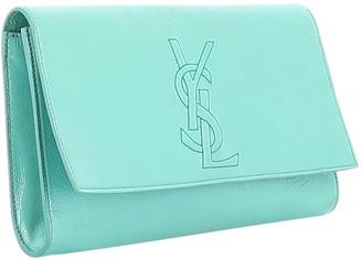 Saint Laurent Belle de Jour Green Patent leather Clutch bags
