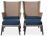 Threshold Ennismore 4-Piece Wicker Patio Conversation Seating Set