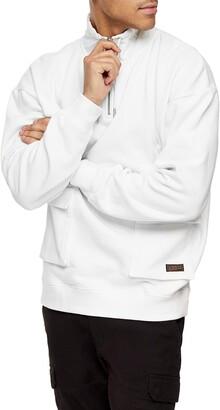 Topman Splash Dye Quarter Zip Pullover