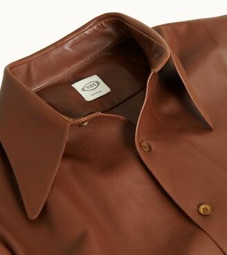 Tod's Leather Shirt Dress