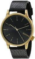 Komono Unisex KOM-W2551 Winston Monte Carlo Series Analog Display Japanese Quartz Black Watch