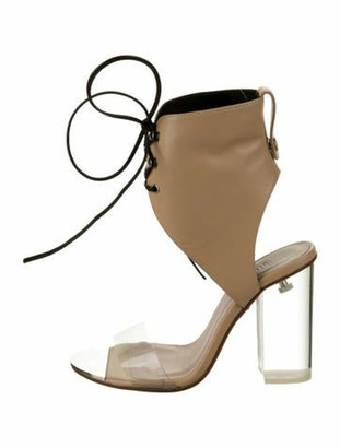 Ritch Erani NYFC Kathryn Leather Lace-Up Sandals Nude Kathryn Leather Lace-Up Sandals