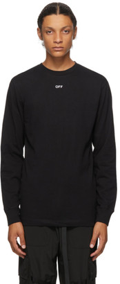 Off-White Black Stencil Arrows Long Sleeve T-Shirt