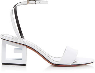 Givenchy Triangle Leather Sandals Size: 36