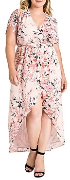 Standards & Practices Robin Blossom Floral Maxi Wrap Dress