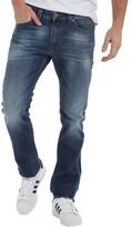 Diesel Mens Thavar 0848C Skinny Fit Jeans Blue Wash
