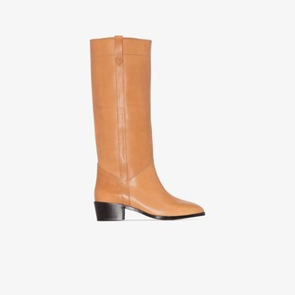 Isabel Marant brown Mewis 50 leather riding boots