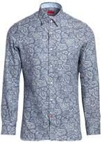 Isaia Slim-Fit Paisley Print Dress Shirt