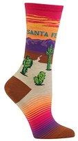 Hot Sox Women's Originals Classics Crew, Santa Fe (Bright Pink), Shoe Size 4-10/Sock Size 9-11