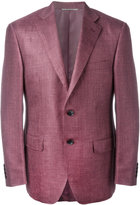 Canali flap pocket blazer - men - Silk/Linen/Flax/Wool/Cupro - 50