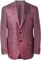 Canali flap pocket blazer