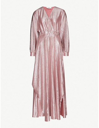BA&SH Shinny stretch-metallic maxi dress