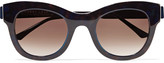 Thierry Lasry Leggy cat-eye frame acetate and metal sunglasses