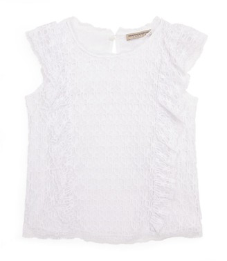 Ermanno Scervino Broderie Anglaise-Front Top (4-16 Years)