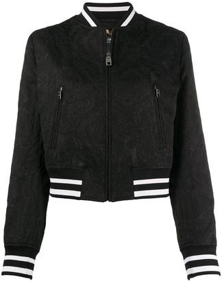 Dolce & Gabbana Baroque Pattern Bomber Jacket