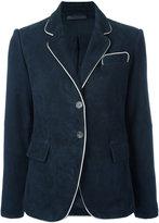 Simonetta Ravizza piped trim blazer