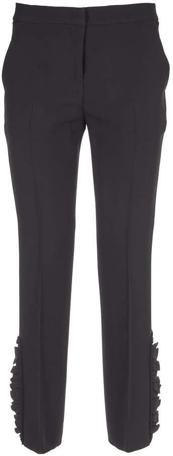 N°21 N.21 Ruffle Detail Cropped Trousers