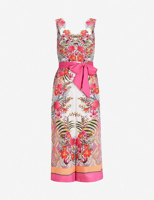 Ted Baker Solana printed satin jumpsuit