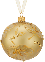 John Lewis Into the Woods Gold Leaf Bauble with Beads
