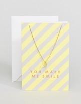 Orelia You Make Me Smile Necklace Giftcard
