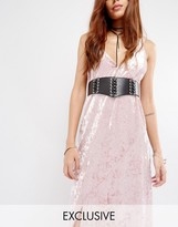 Glamorous Corset Lace-up Eyelet Waist Belt