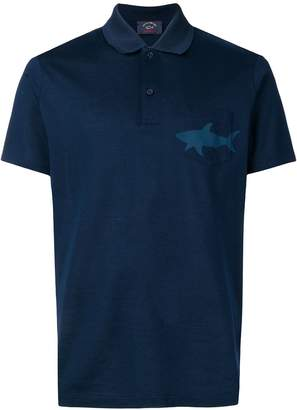 Paul & Shark shark print polo shirt