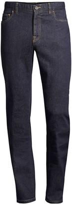 Brioni Cotton & Cashmere Straight Leg Jeans