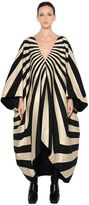 Gareth Pugh Oversized Graphic Lurex Jacquard Dress