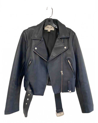 Diane von Furstenberg Blue Leather Jackets
