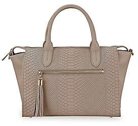 GiGi New York Women's Grace Embossed Leather Satchel
