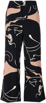Valentino panther print culottes