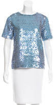 Ashish Short Sleeve Sequin Top
